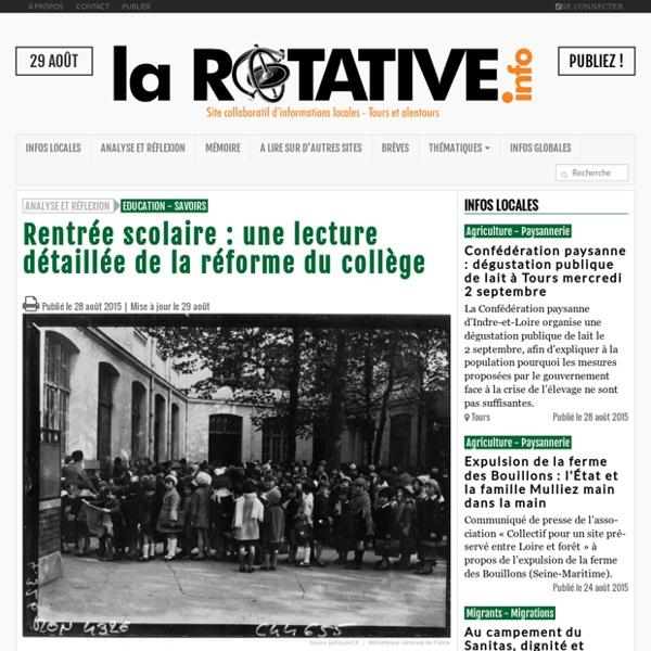 Rentrée scolaire : une lecture détaillée de la réforme du collège