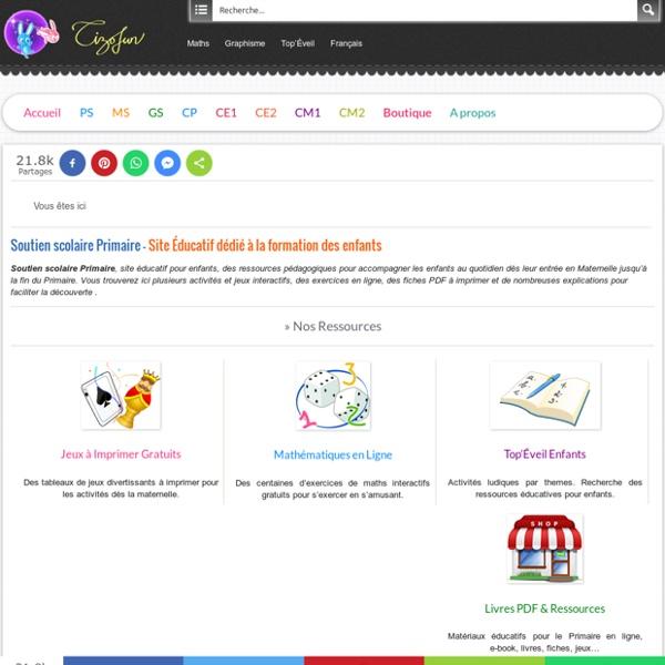 Soutien scolaire site Éducatif pour la formation des enfants