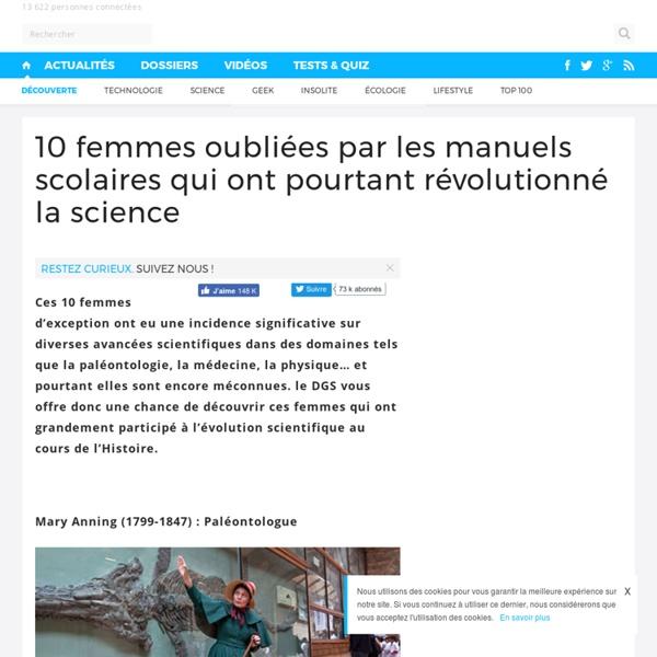 10 femmes oubliées par les manuels scolaires qui ont pourtant révolutionné la science