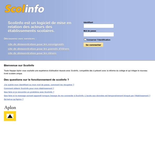 Bienvenue sur Scolinfo