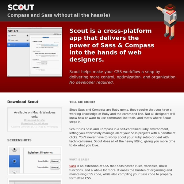 Scout - Compass and Sass without all the hassle