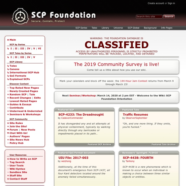 The SCP Foundation