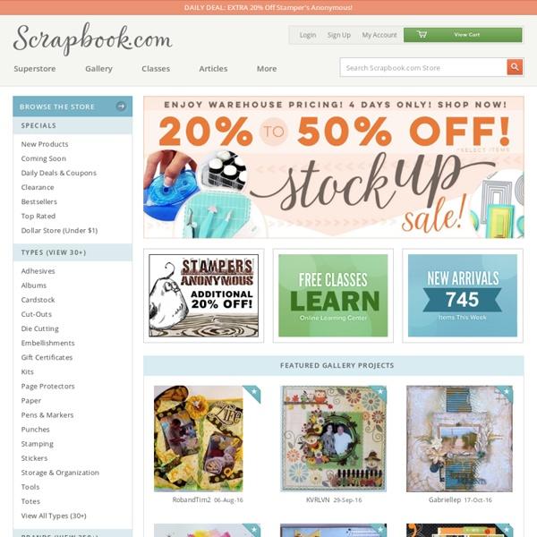 Scrapbook.com: Scrapbooking Ideas & Supplies