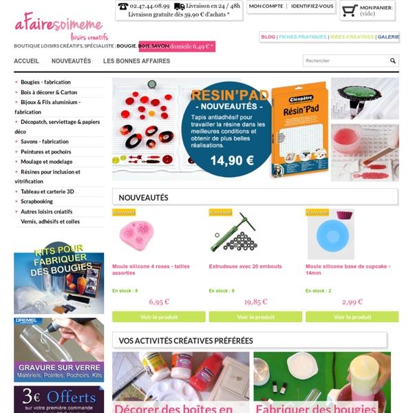 Boutique en ligne de loisirs créatifs et scrapbooking, fiches pratiques et idées - Afairesoimeme