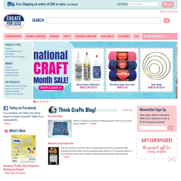Craft supplies, scrapbooking and sewing at discount prices