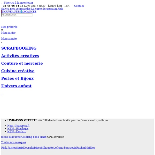 Loisirs créatifs - Qstomania : boutique de scrapbooking et home déco