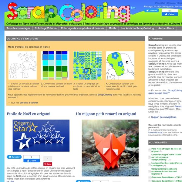 ScrapColoring - Coloriage en ligne et coloriages à imprimer