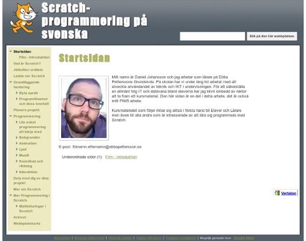 Scratch-programmering på svenska
