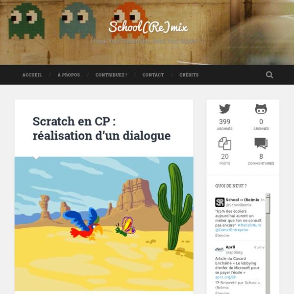 Scratch en CP : réalisation d'un dialogue - School(Re)mix