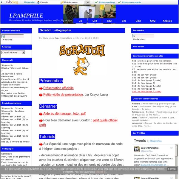 Scratch : sitographie