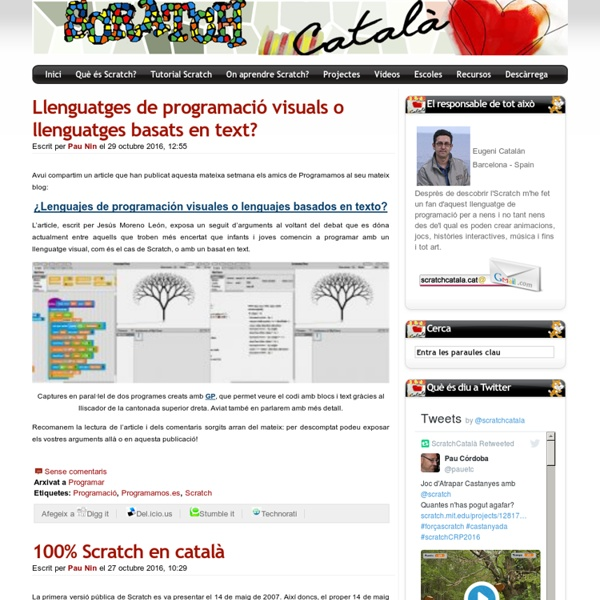 ScratchCatalà - Imagina, crea, programa!!