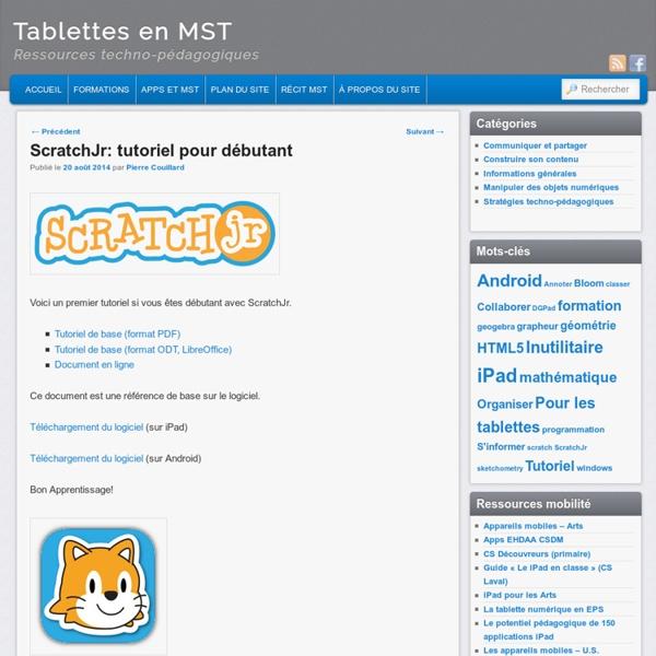 ScratchJr: tutoriel pour débutant