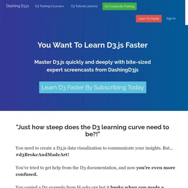 D3.js Tutorials, Screencasts and a Newsletter