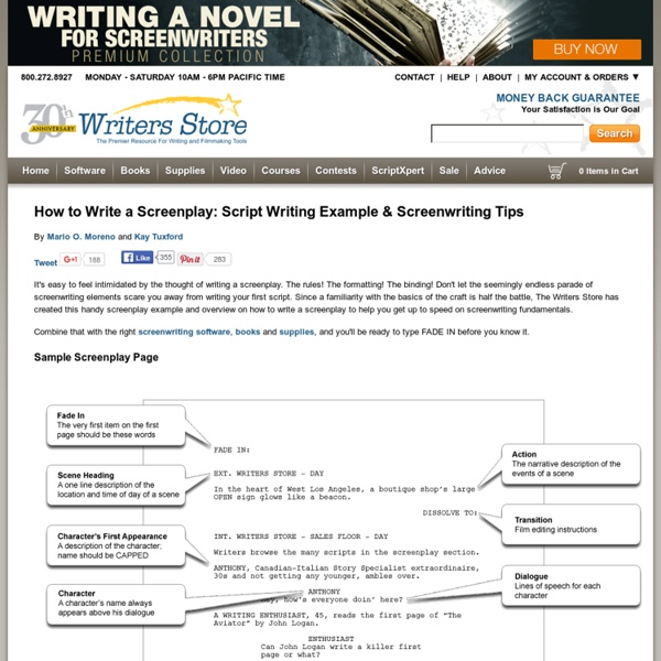 How to Write a Screenplay: Script Example & Screenwriting Tips