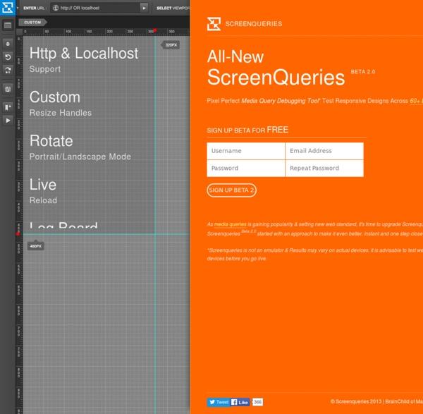 Pixel Perfect Responsive Design Testing Tool