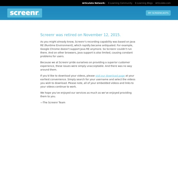 Instant screencasts: Just click record
