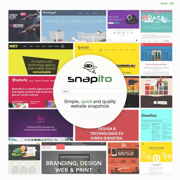 Snapito! Full length website screenshots