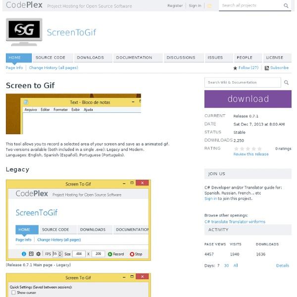 ScreenToGif : faire un GIF à partir de son écran