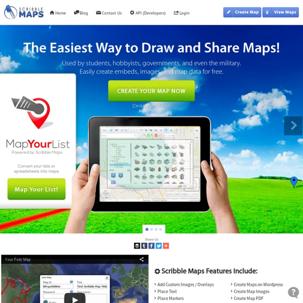 Scribble Maps : Draw On Maps and Make Them Easily.