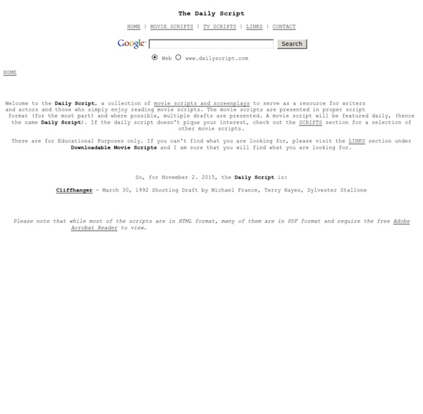 Daily Script - Movie Scripts and Movie Screenplays