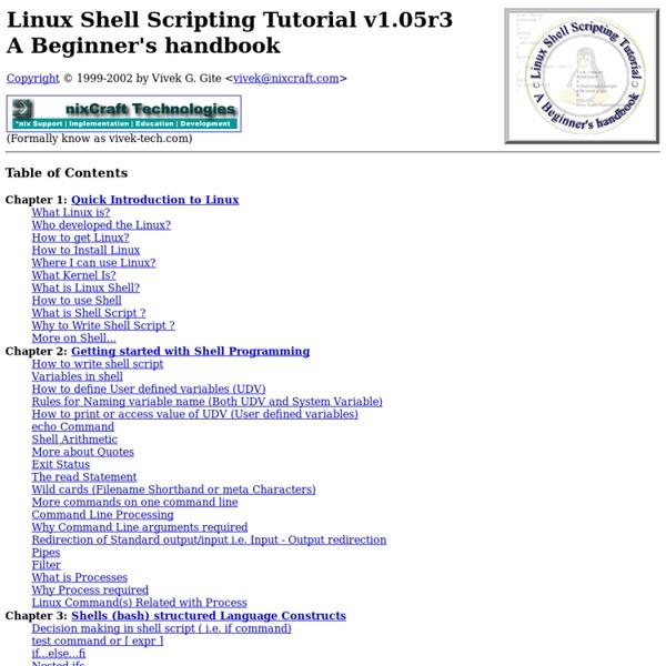 Linux Shell Scripting Tutorial - A Beginner's handbook