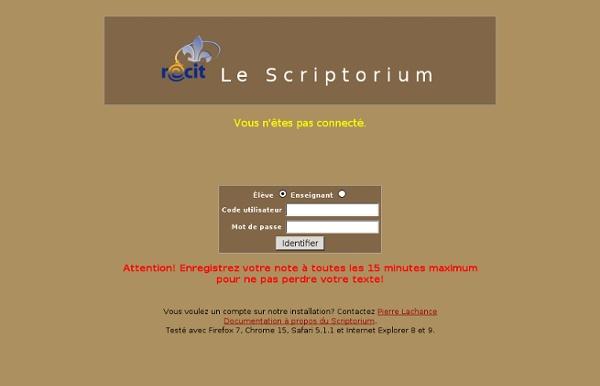 Le Scriptorium - Gilles G. Jobin, 2009