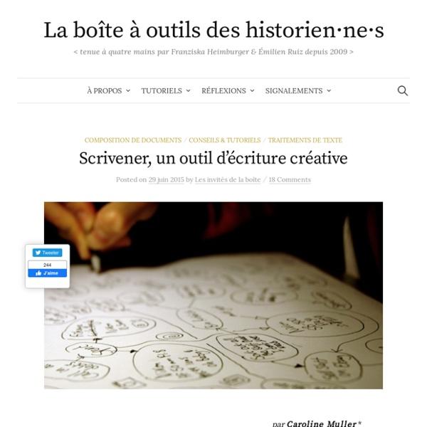 Scrivener, un outil d'écriture créative