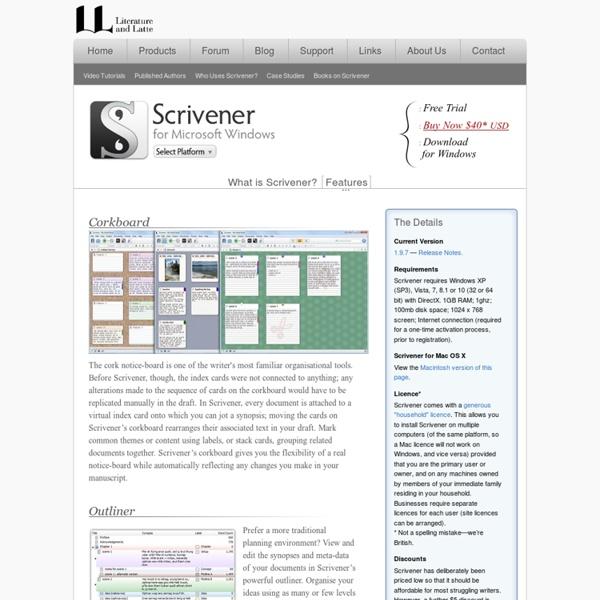 Scrivener Writing Software