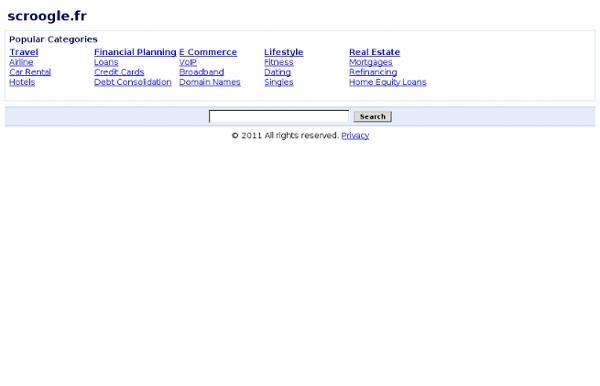 Scroogle - Moteur de recherche anonyme sur Google - résultats