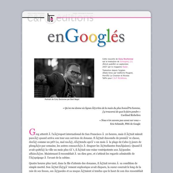 Scroogled - enGooglés : une nouvelle de Cory Doctorow