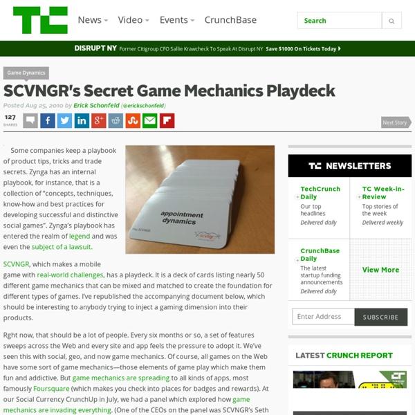 SCVNGR's Secret Game Mechanics Playdeck