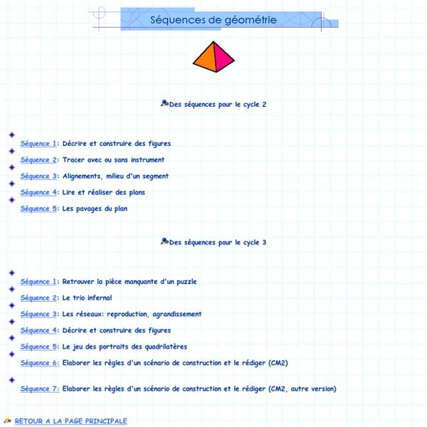 Séances de géométrie