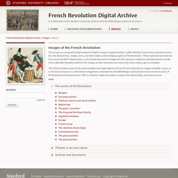 French Revolution Digital Archive: Search