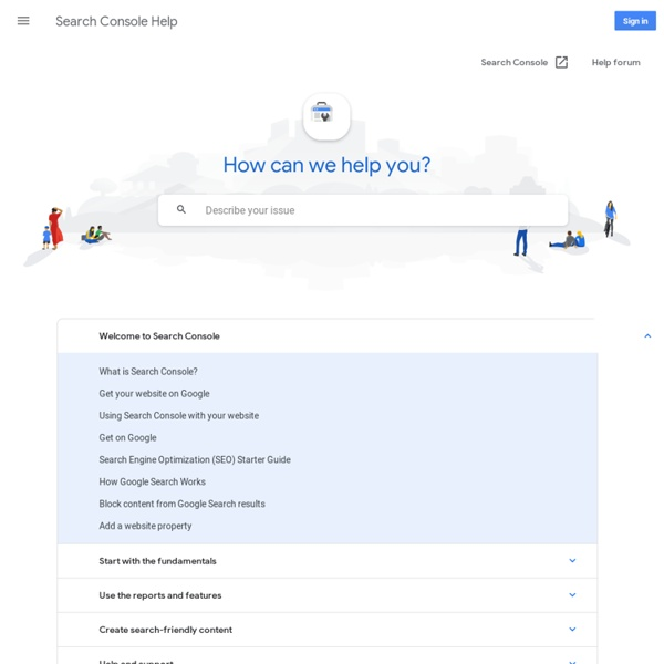 Webmaster Tools Help