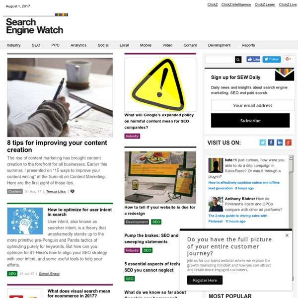 Search Marketing News Blog @SEWatch