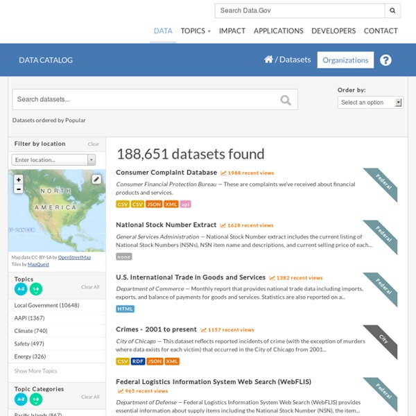 Search for a Dataset - Data.gov