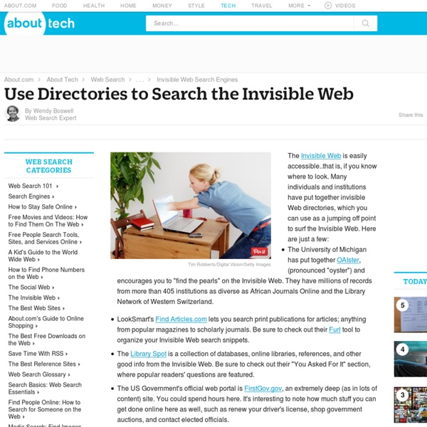 Invisible Web Directory - Search The Invisible Web With A Web Directory