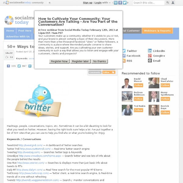 50+ Ways to Search Twitter
