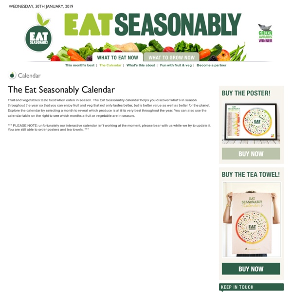Seasonal fruit and vegetable calendar