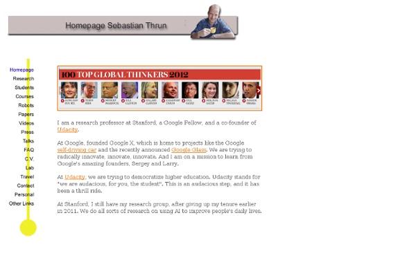 Sebastian Thrun's Homepage