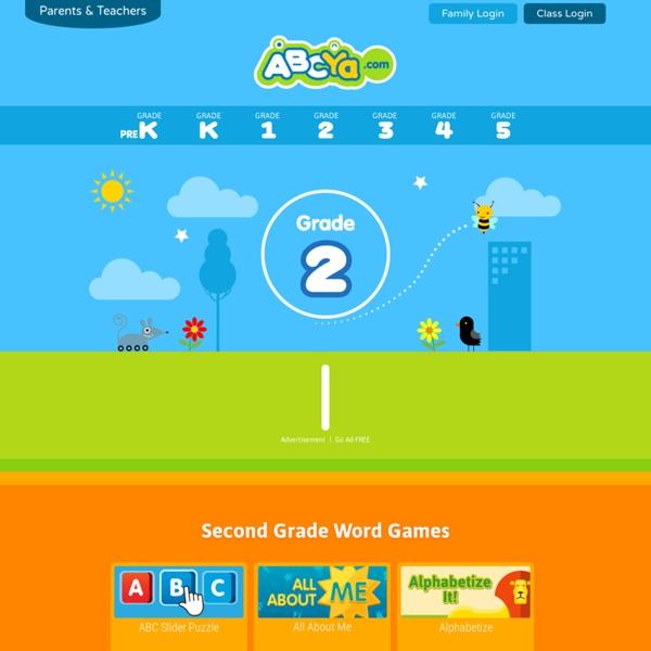 Elementary Computer Activities & Games - Grade Level second