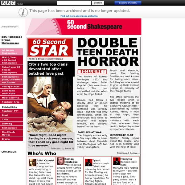 Drama - 60 Second Shakespeare - Shakespeare's plays, themes and