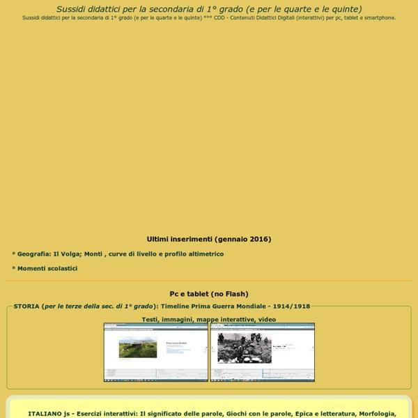 Sussidi didattici per la scuola secondaria di primo grado - Index
