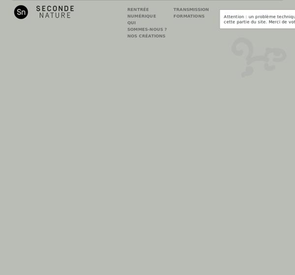 Seconde Nature - Arts et territoires numériques
