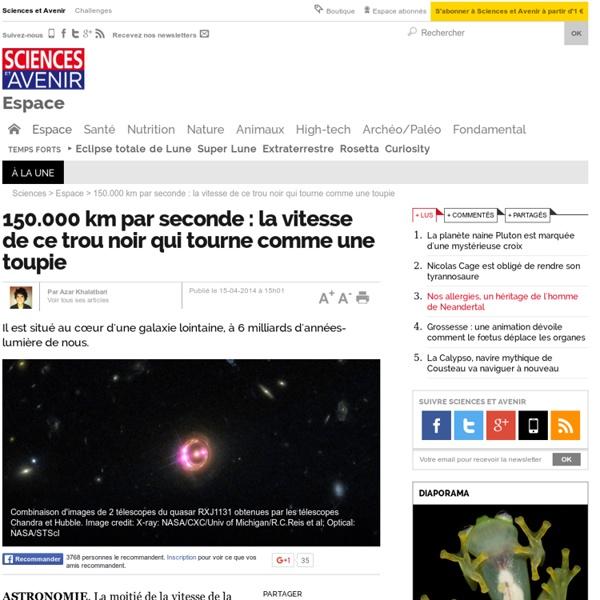 150.000 km par seconde : la vitesse de ce trou noir qui tourne comme une toupie