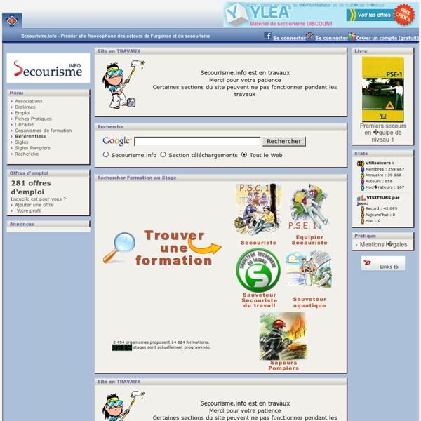 Secourisme Info, le portail du secourisme, téléchargement de documents, forums, chat, formations, concours et diplômes