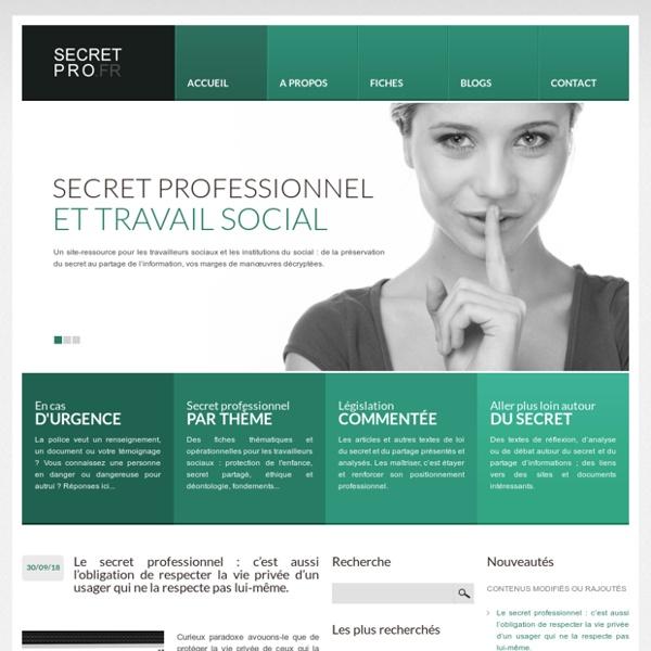 Secret professionnel et travail social