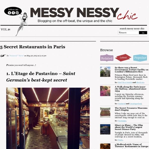 5 Secret Restaurants in Paris