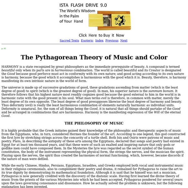 Secret Teachings of All Ages: The Pythagorean Theory of Music and Color