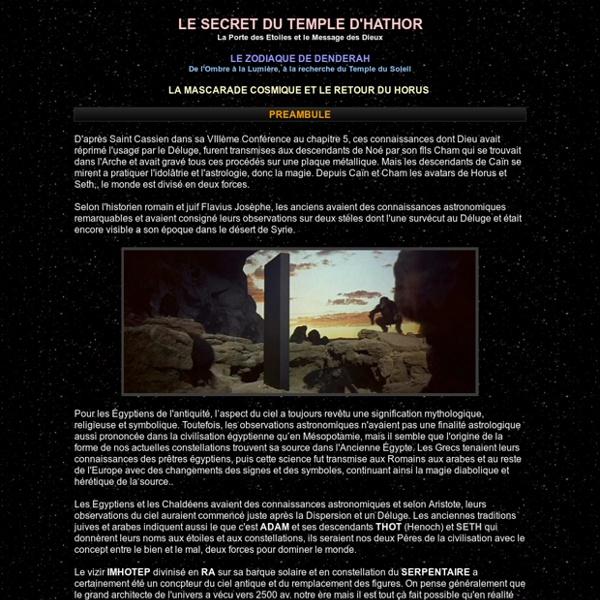 Le Secret du Zodiaque de Denderah